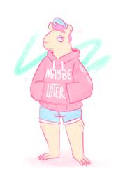 [commission] chill capybara