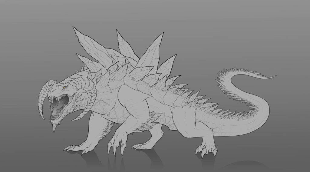 Commission #88 - Mountain Dragon Lines