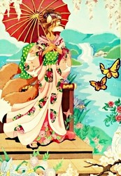 Butterfly Of Nagasaki-Painting