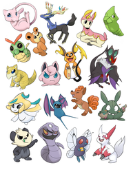 Pokemon Stickers - Batch 1 Complete