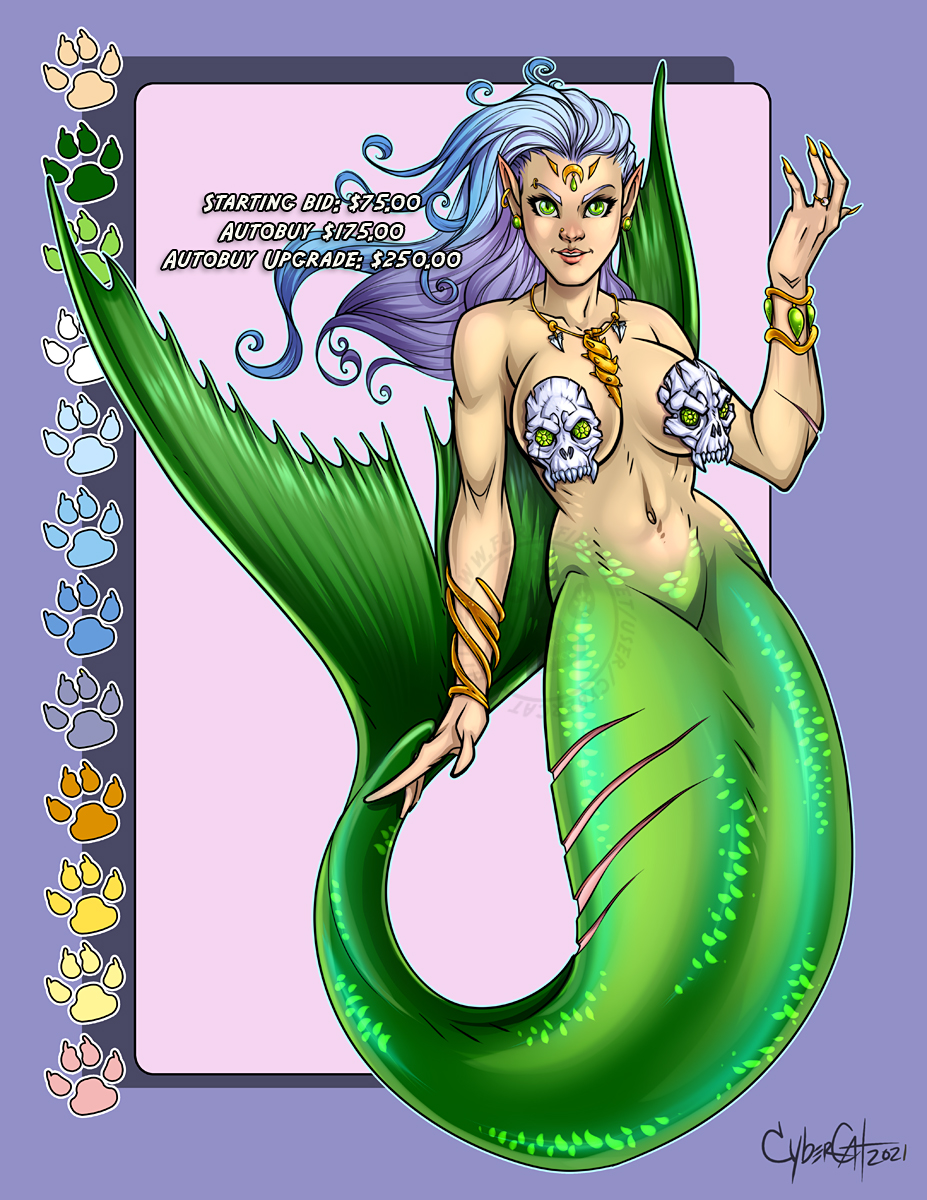 Emerald Siren  Adoptable Starting Bid $75