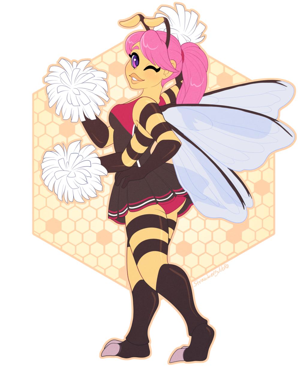 Cheerleader Bee - Commission