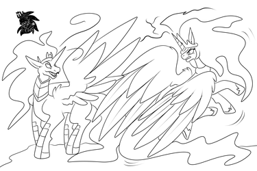 Event Horizon vs Celestia +Commission WIP+