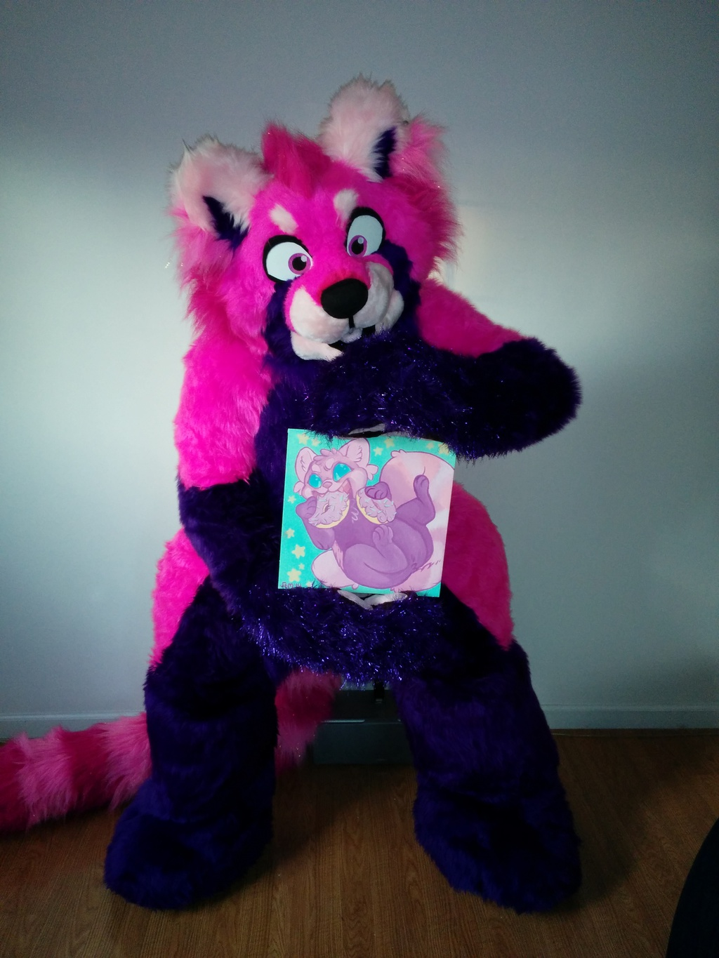 Most recent image: Posing with Quaggy Art