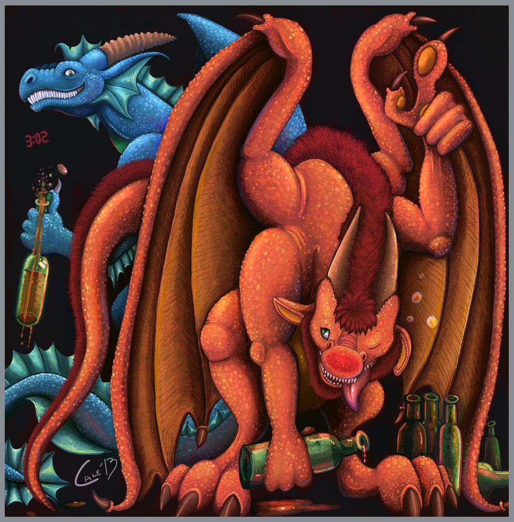 New Year Dragons