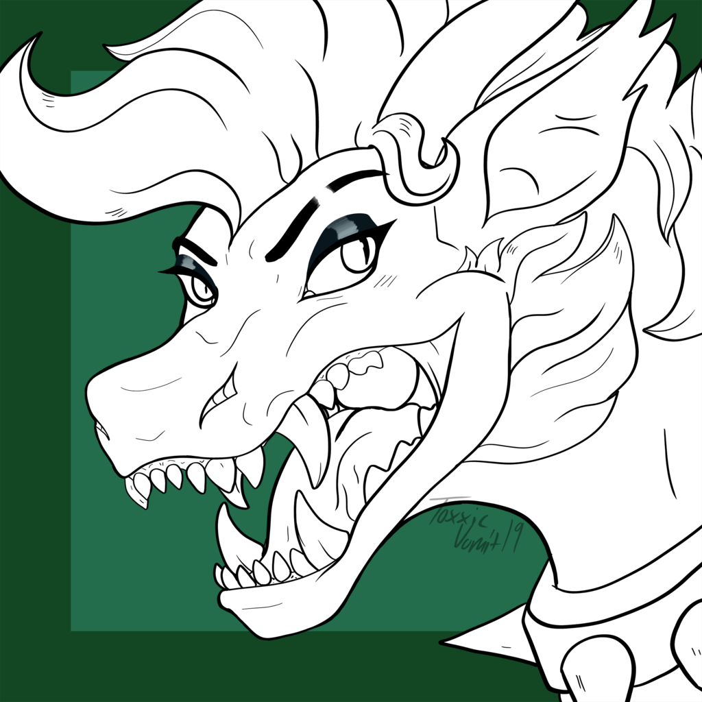 Most recent image: [WIP] Diermuid Icon Lineart