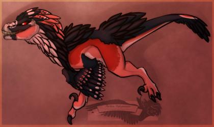 Charging raptor