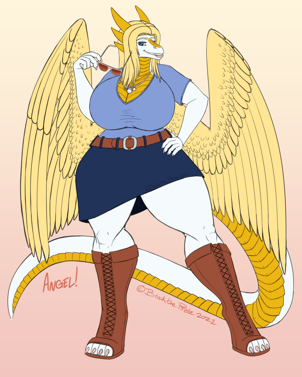 Angelic Vibes - Flat Color Example