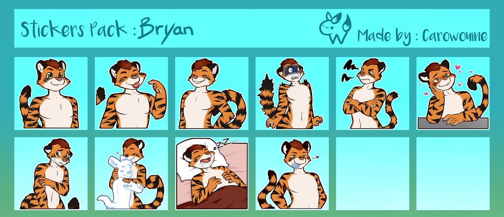 Bryan SFW Telegram Sticker Set 1