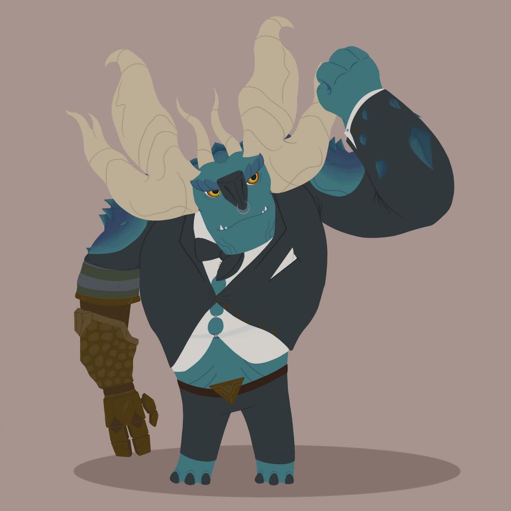 Trollhunters - Draal in a suit