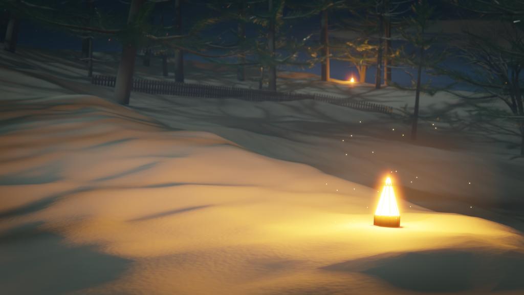 Winter Forest - Backwards View (Landscape)