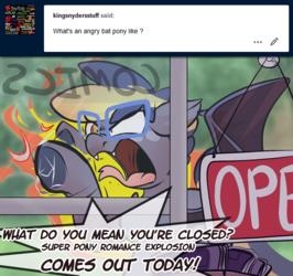 Ask Night Stitch: Angry Batpony