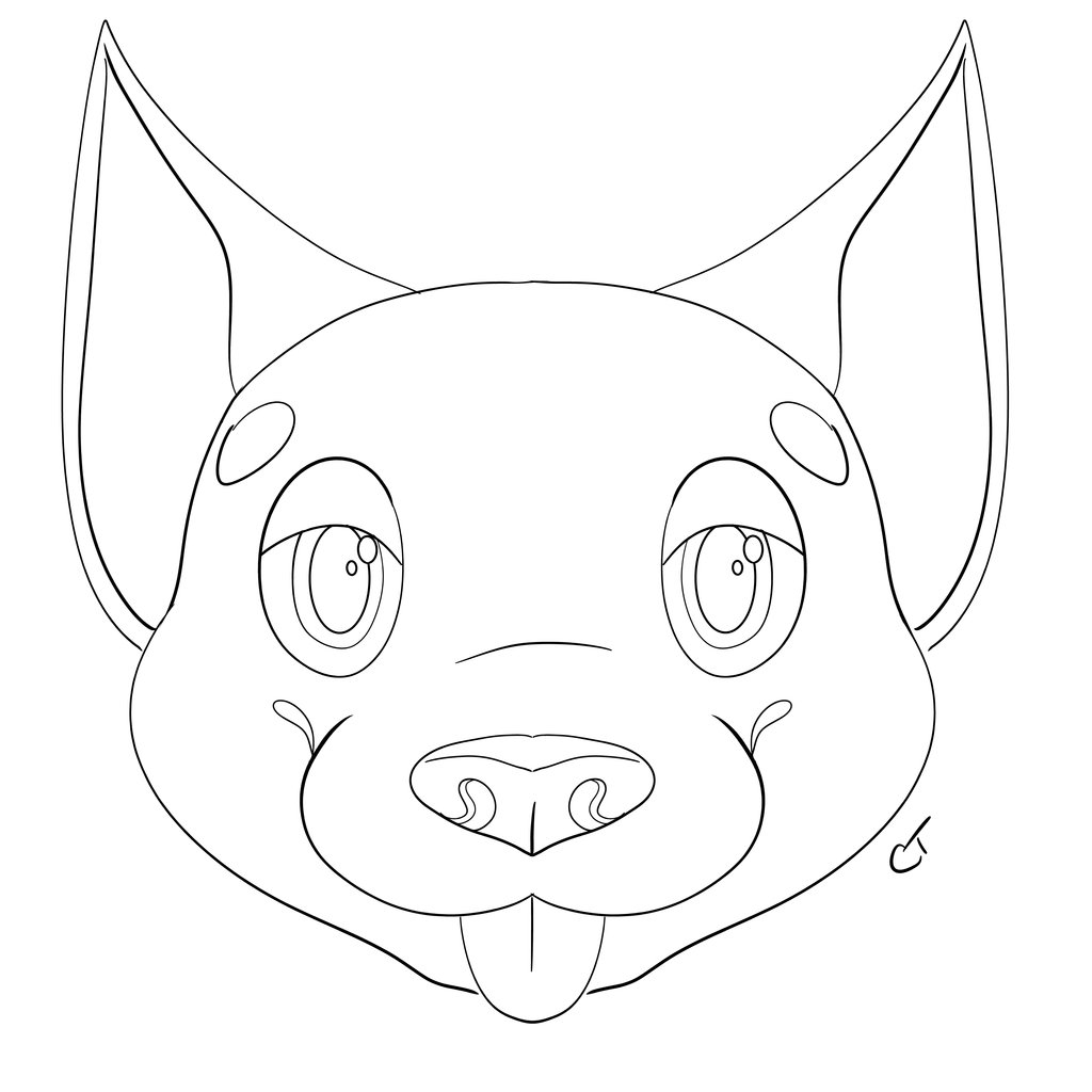 [F2U]Dog Lineart