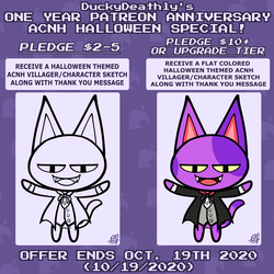 1 Year Patreon Anniversary Halloween Promo (OPEN)