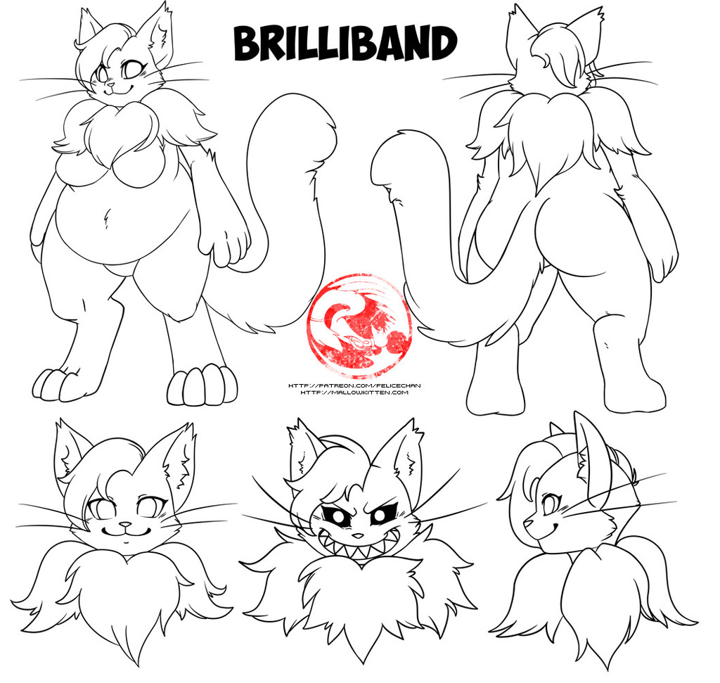 reference sheet lineart commission
