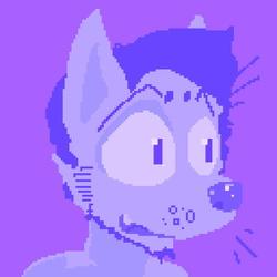 Pixel Art : Purple Rando