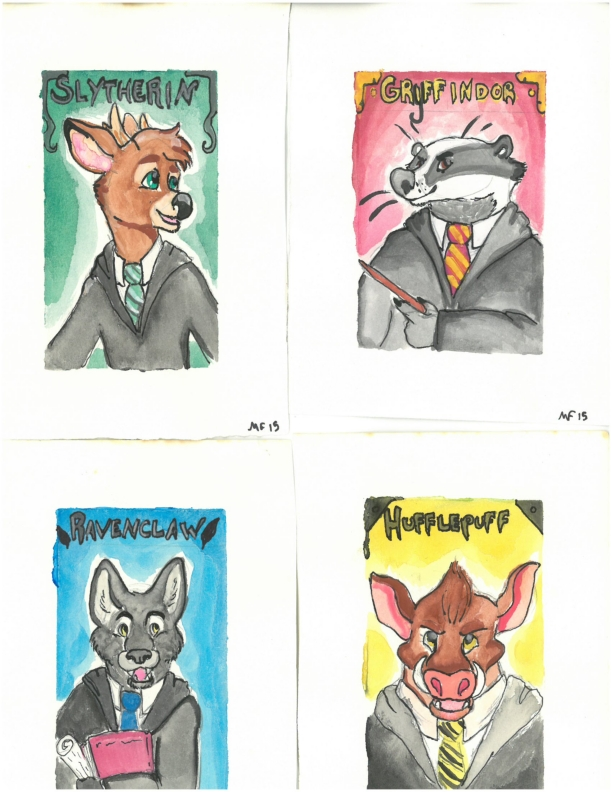 Hogwarts House Portraits