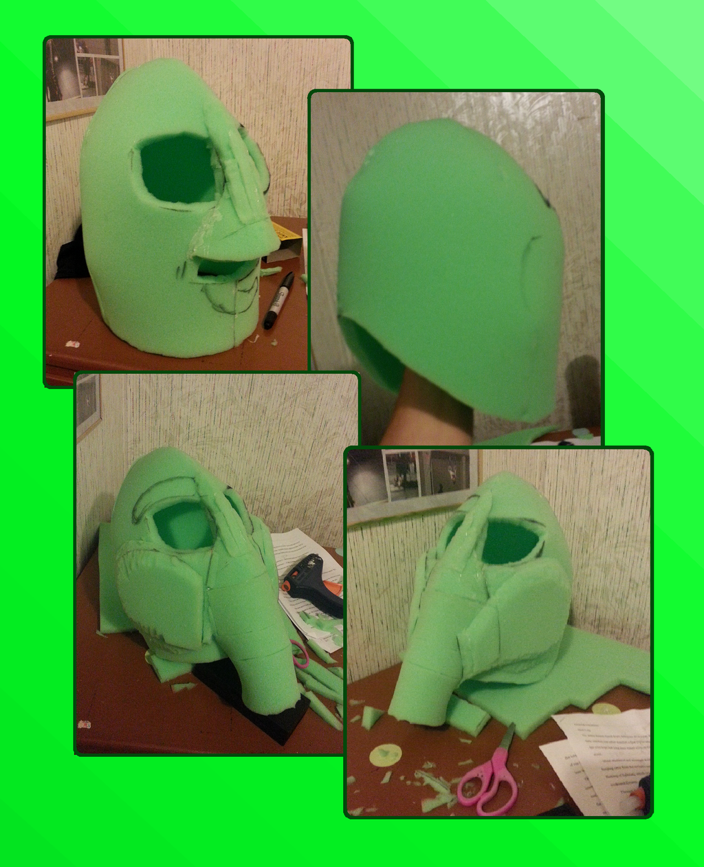 White Elephant Fursuit Head WIP - Most of the Base