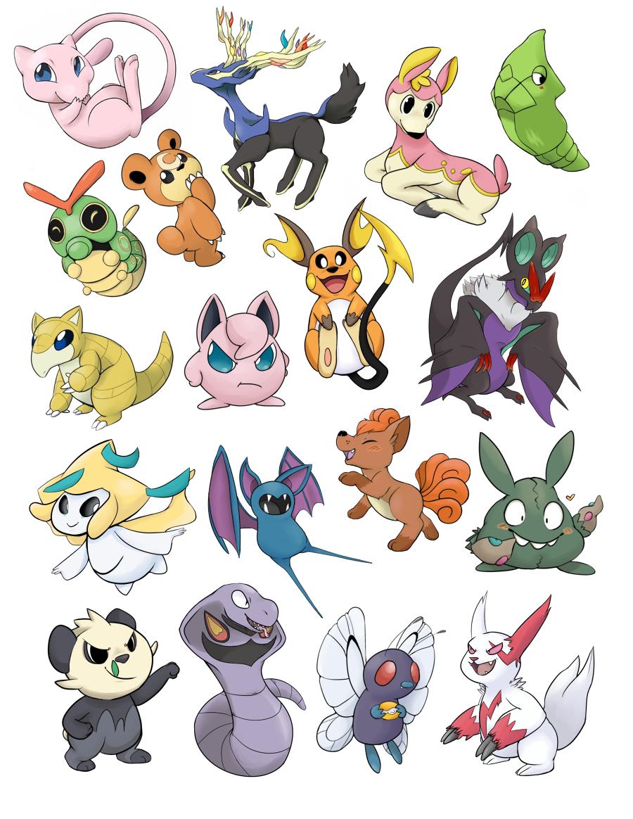Pokemon Sticker Sheet - Batch 1