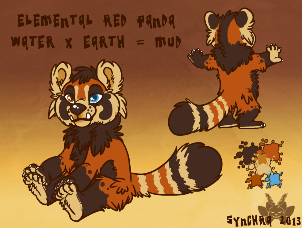 Elemental Red Panda - Mud!