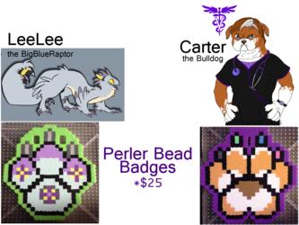 Perler Badges Commissions