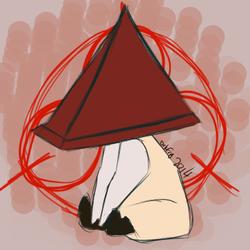 Red Pyramid Chibi Sit
