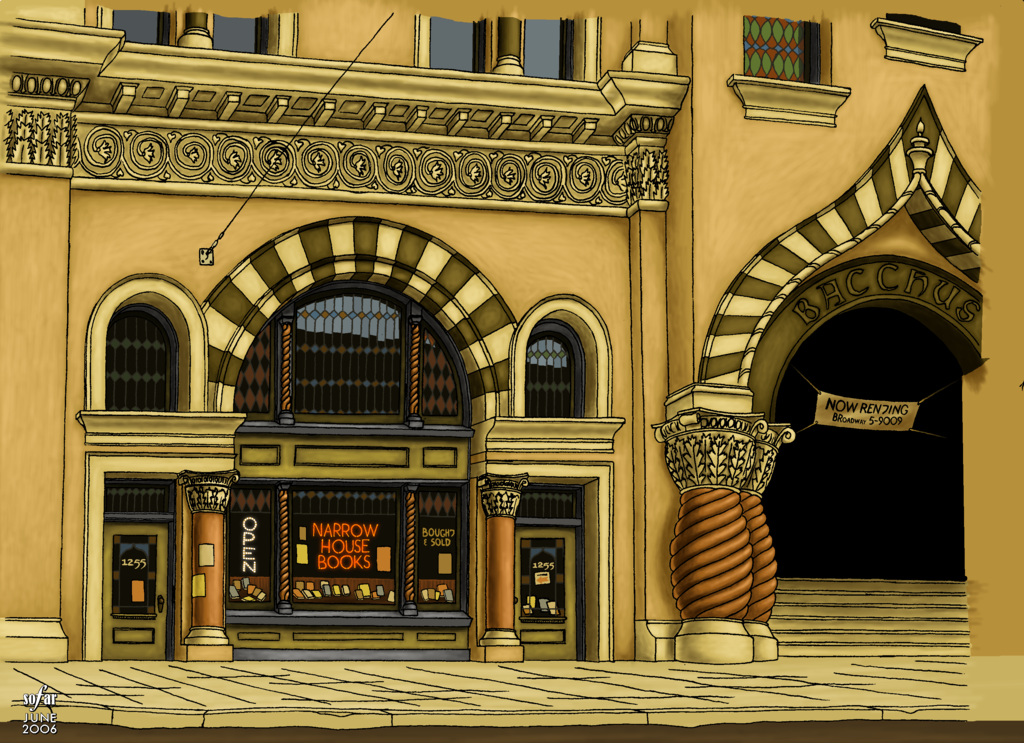 Most recent image: Old art: a bookstore