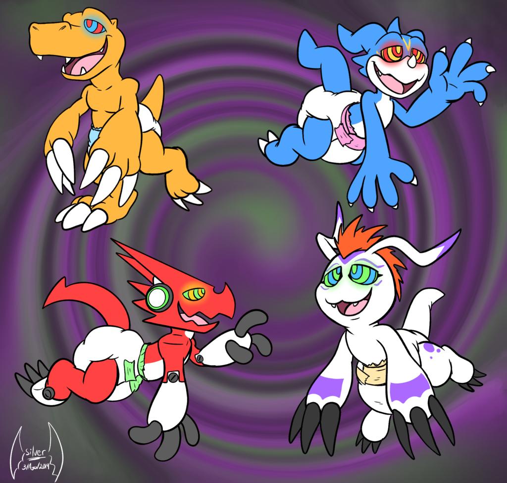 Hypno Diaper Digimons