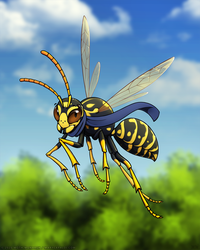 A Scarf-Wearing Wasp!