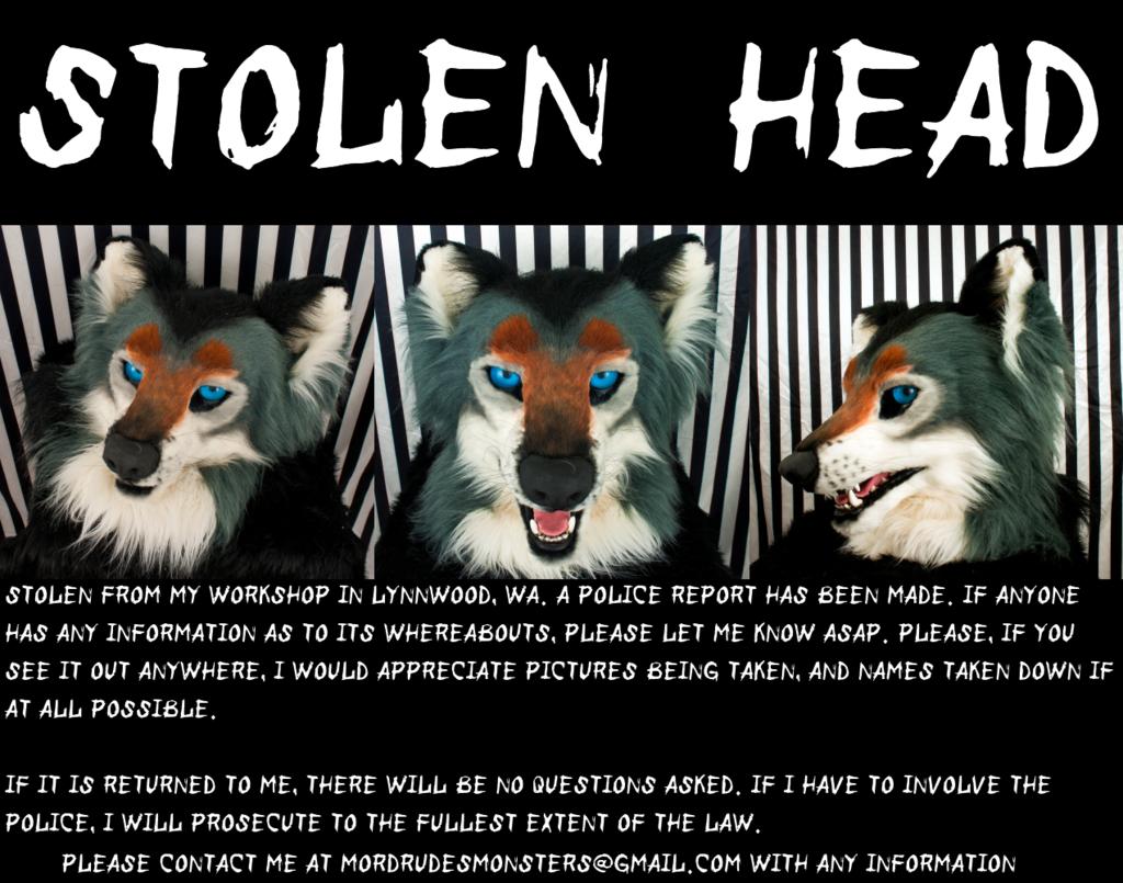 Most recent image: Stolen Fursuit Head