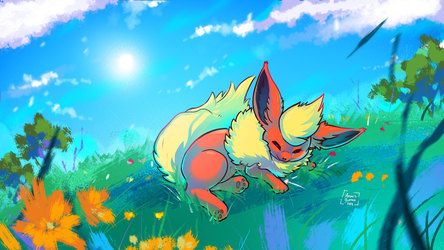 Sleeping Flareon