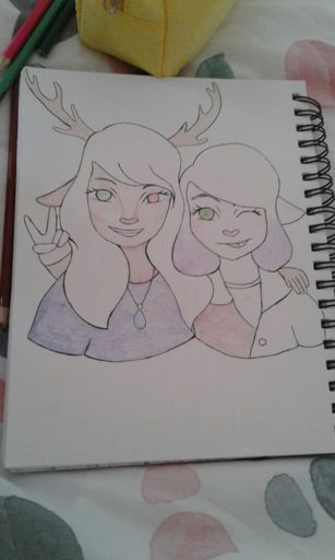 Renee and Delphine Sister Selfie