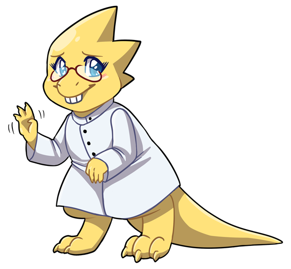 Most recent image: Alphys