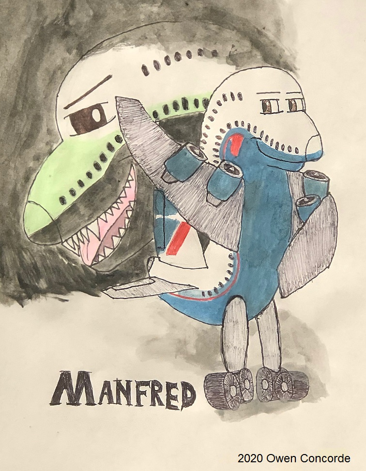 Throwback Manfred (Watercolor)