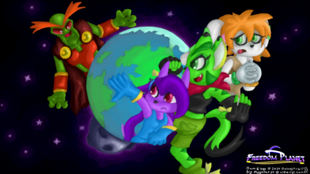 Free The Planet! - Freedom Planet Wallpaper