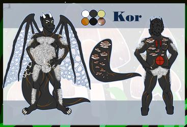 Kor ref sheet - Art by Lady Minax