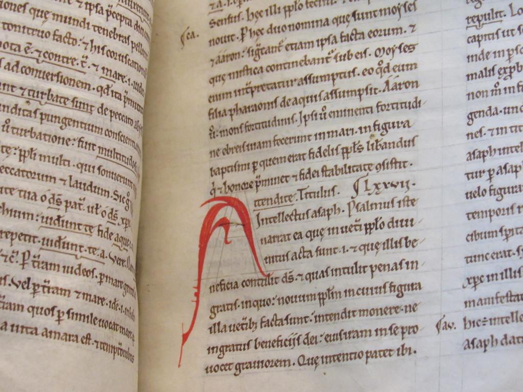 Medieval Manuscript- Scribe's Marks