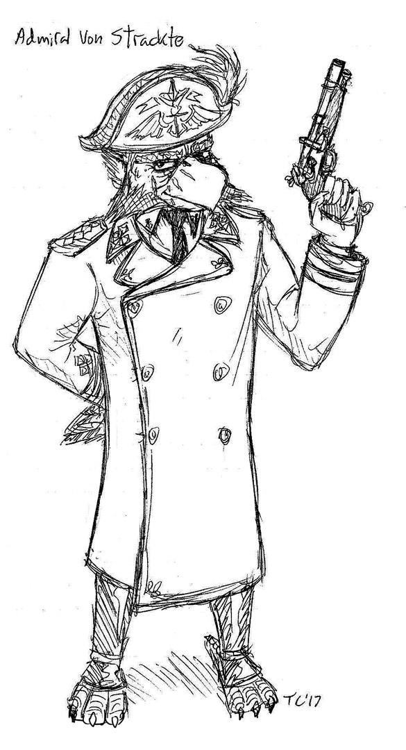 Admiral Von Strackte at the Ready