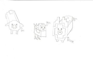 Staxel Cubic Animal Sketch - Fanart