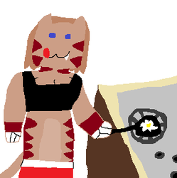 My sona cooking eggs