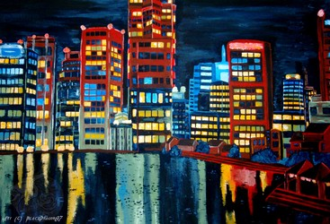 Big city in the Night ...