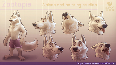 Zootopia Wolves and painting studies