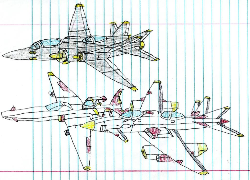 Surge Striker, Falcon, and Unknown Fighter