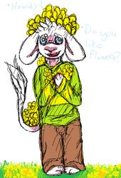 Flowery goat baby