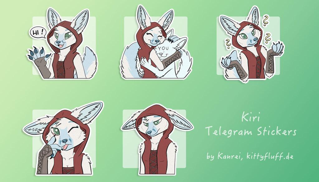 Kiri, Telegram Stickers
