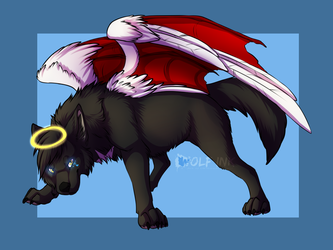 Manatheghostwolf - coloured sketch
