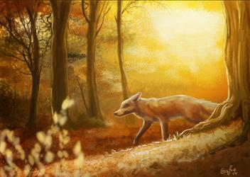 Speedpainting- Autumn fox trails VIDEO