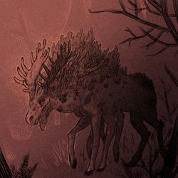 Boneworm infected moose (Defans Amis)