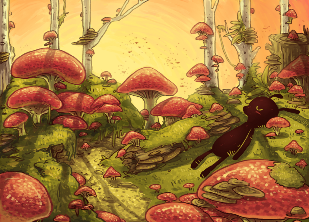 Most recent image: forest of mushrooms slumber