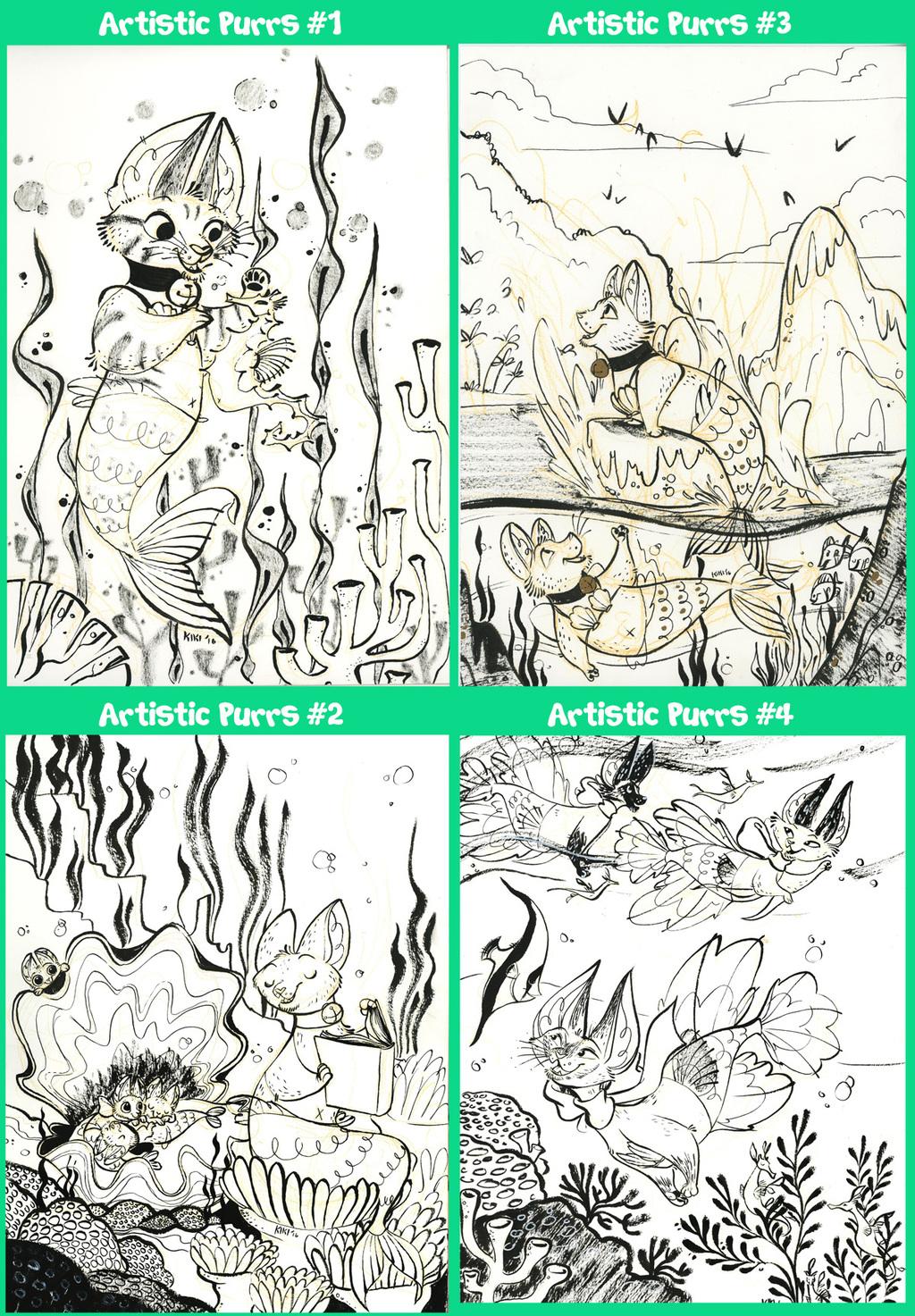 Purrmaids Concept Art available